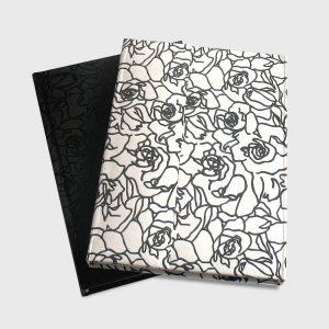Agende alba + neagra lacuire selectiva trandafiri