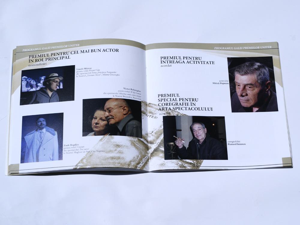 Caiet Gala Premiilor UNITER