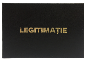 Legitimatie de serviciu negru