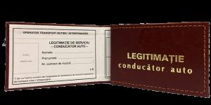 Legitimatie conducator auto exterior+interior model 1