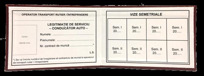 Interior Legitimatie conducator auto interior model 1