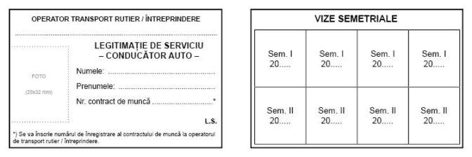 Interior Legitimatie de serviciu Conducator auto_Model 1